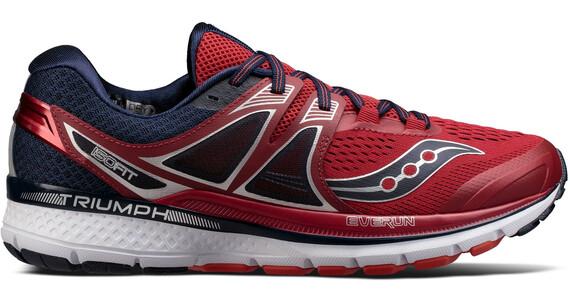 saucony Triumph ISO 3 Hardloopschoenen Heren rood/blauw